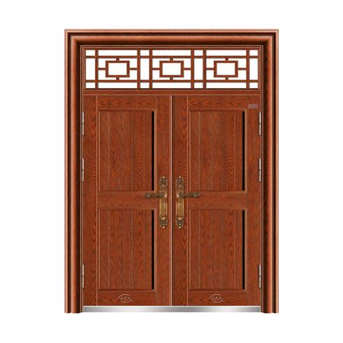 精雕树纹拼铝雕大门-和和美美MYL-8990