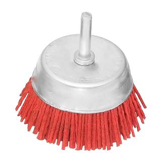 75MM红色磨料丝杆碗-