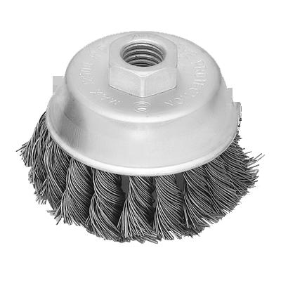 100MM电镀扭丝碗型刷-