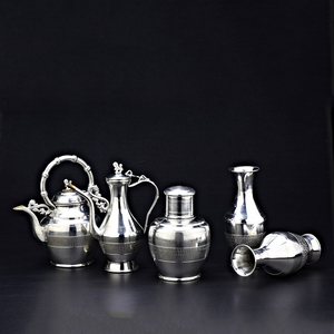 永康锡雕五件套中号(花瓶) -永康锡雕五件套(花瓶)