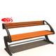 户外铸铝公园椅-3701