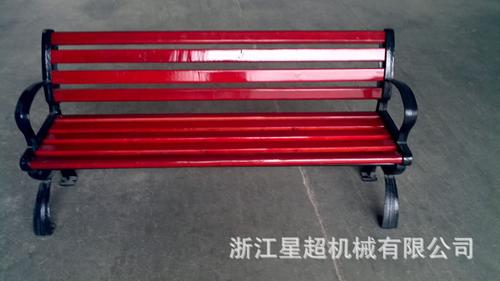 加厚防腐木铸铁带靠背休闲长椅-6005