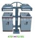 钢板垃圾桶单桶-4701-13785