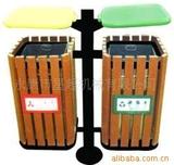钢木户外垃圾桶 -0603-16686