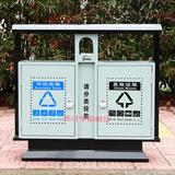 户外方形分类果皮箱垃圾桶 -0001-13728
