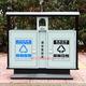 户外方形分类果皮箱垃圾桶-0001-13728