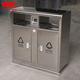 不锈钢分类垃圾桶-4501-131080门上带拉手