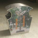 户外不锈钢垃圾箱 -3703-31668