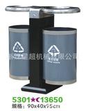 圆形不锈钢户外垃圾桶 -5301-13650
