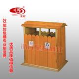 防腐木景区垃圾桶 -1704-13728
