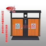 防腐木分类垃圾桶 -0201-13658