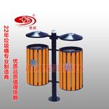 户外分类小区钢木垃圾桶 -1201-13628