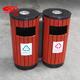 精品防腐木分类垃圾桶-1203-13660