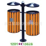 分类防腐木钢木垃圾桶 -1202-13628