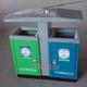 钢板喷塑户外垃圾桶-4402-16638