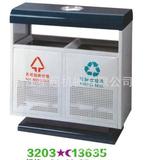 低价钢板冲孔垃圾桶  -3203-13635