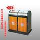 封闭式钢木垃圾桶-1102-13665
