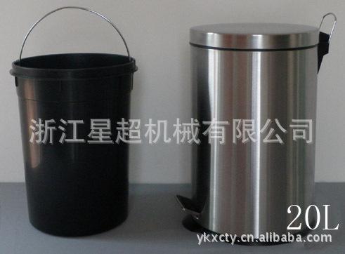 室内不锈钢脚踏垃圾桶-5803-08086