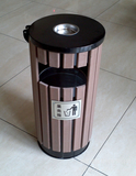 圆形塑木小区垃圾桶 -0301-18346