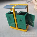 小区方形钢板垃圾桶 -2409-94567