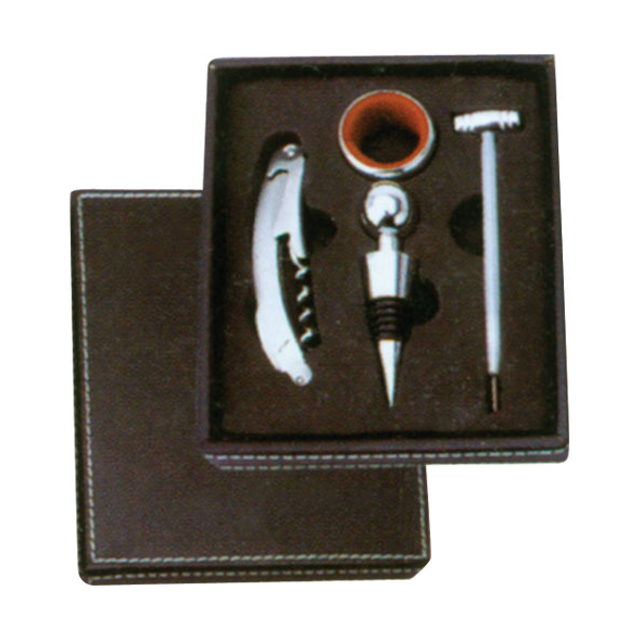 Leather Box-Wine Set 608206