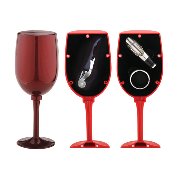 Glass Shaped Wine Set 608011-D