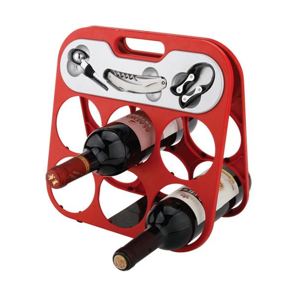 Foldable 6 Bottle Wine Rack 608355-A