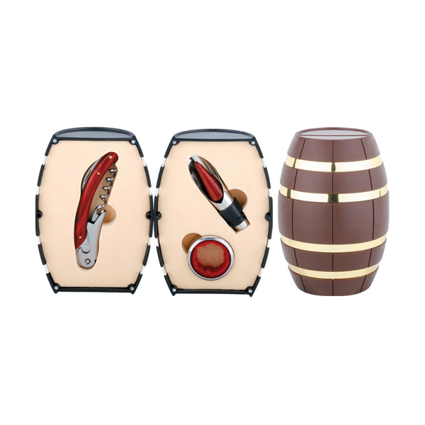 Barrel Shaped Wine Set 608012-C