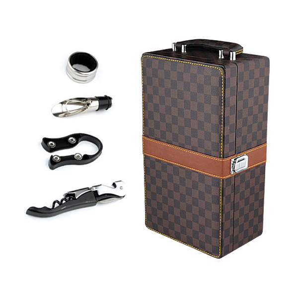 Leather Wine Box 608266-B