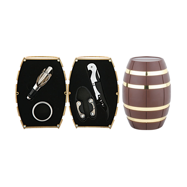 Barrel Shaped Wine Set 608012-G