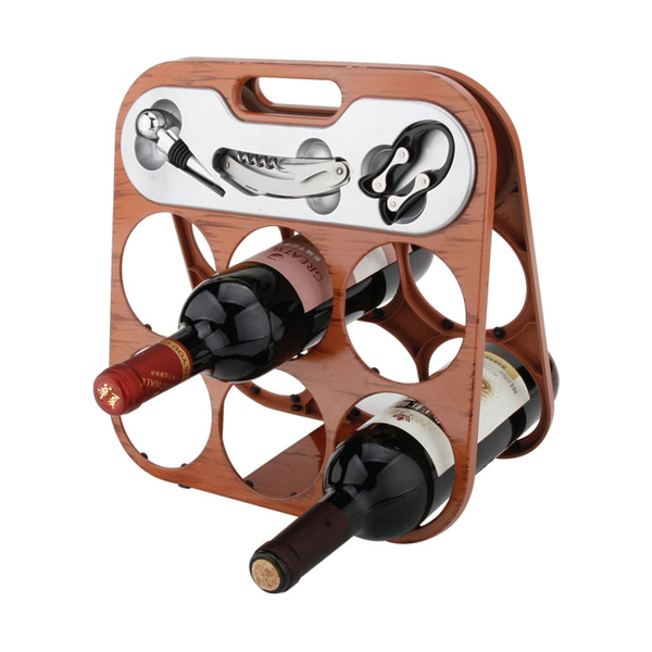 Foldable 6 Bottle Wine Rack 608355-E