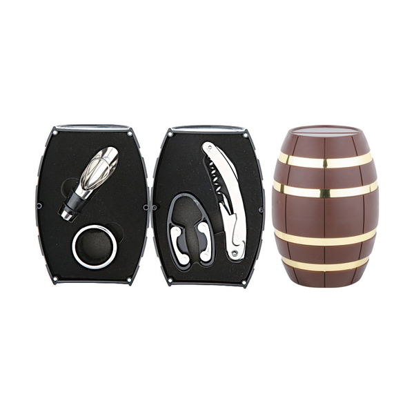 Barrel Shaped Wine Set 608012-D
