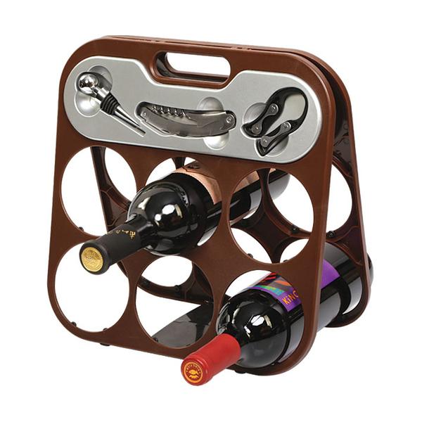 Foldable 6 Bottle Wine Rack 608355-C