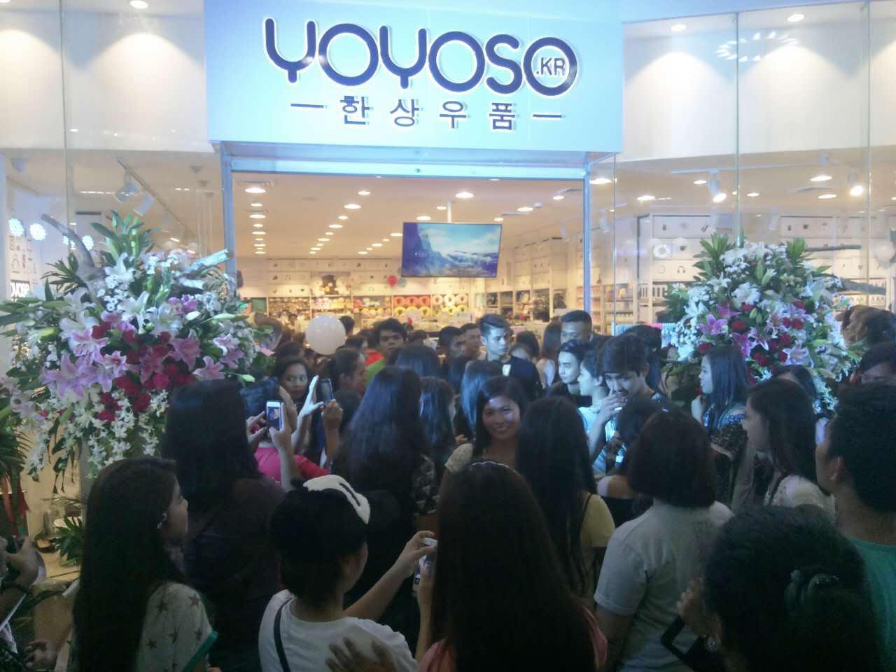 YOYOSO韩尚优品菲律宾旗舰店开业盛况空前,引购物狂潮!