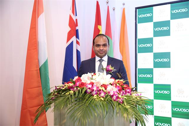 印度方代表TABLEZ总裁Mr. Adeeb Ahamed发表致辞