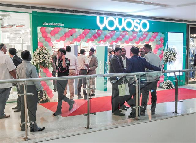Yoyoso new store in India is popular at the opening