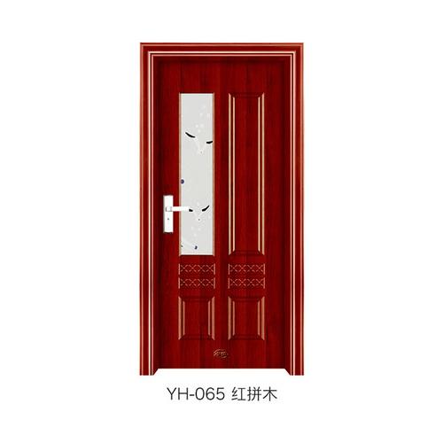 钢木室内门-YH-065(红拼木)