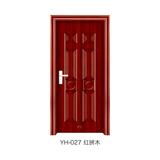 鋼木室內門 -YH-027(紅拼木)