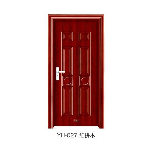 钢木室内门-YH-027(红拼木)