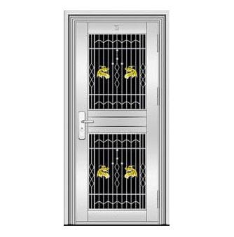 不锈钢门-YH8118六类花