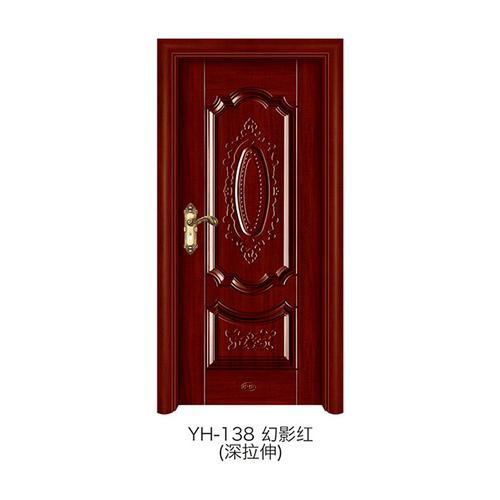 深拉伸仿实木门-YH-138(幻影红)