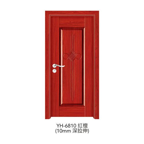 深拉伸强化门-YH-6810(红檀)(10mm深拉伸)