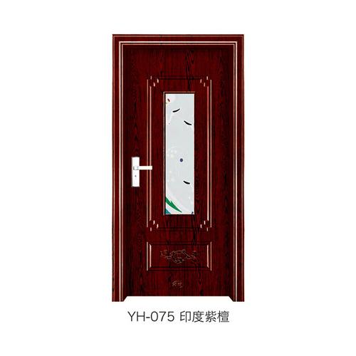 钢木室内门-YH-075(印度紫檀)