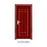 钢木室内门 -YH-079(红拼木)