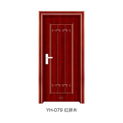钢木室内门-YH-079(红拼木)