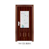 鋼木室內門 -YH-125(黑拼木)