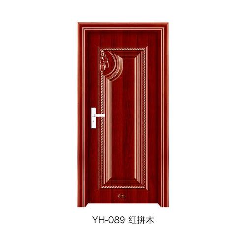 钢木室内门-YH-089(红拼木)