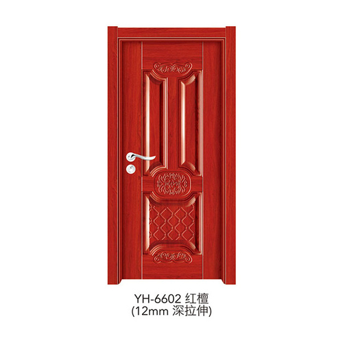 深拉伸强化门-YH-6602(红檀)(12mm深拉伸)