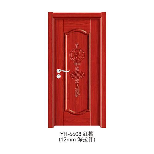 深拉伸强化门-YH-6608(红檀)(12mm深拉伸)