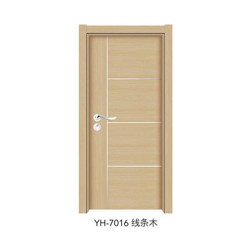 韩式拼接强化门-YH-7016(线条木)